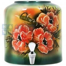 keramicheskiy-dispenser-cvety-zelenyi